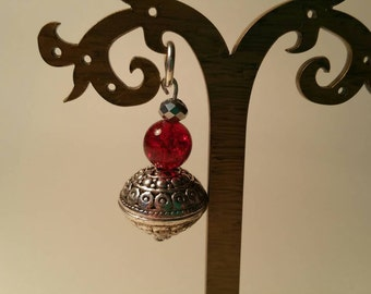 Lovely red and silver pendant.