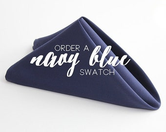 Navy Blue Table Linens, Order a Fabric Swatch | Listing Is For a Fabric Swatch Only, Navy Blue Napkins and Table Linens Are Sold Separately