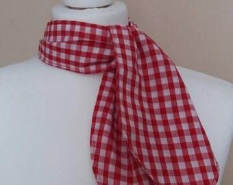 woman's headscarf , neck scarf , rockabilly retro pin up