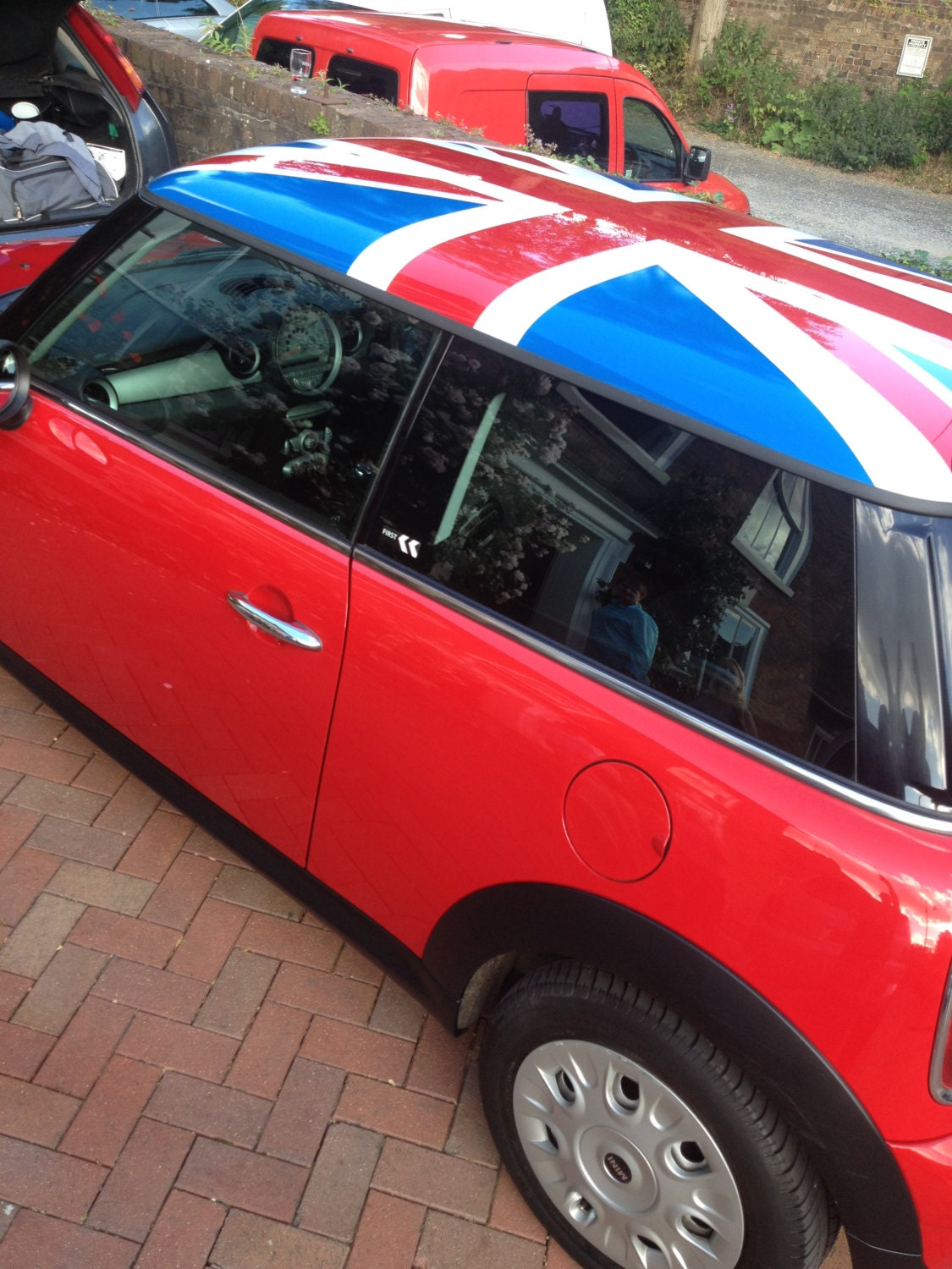 BMW Mini Union Jack Flag Roof Vinyl Decal Stickers Graphics NEW - Bmw mini roof decals