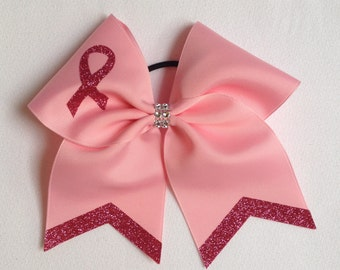 Brest Cancer Awareness Cheer Bow
