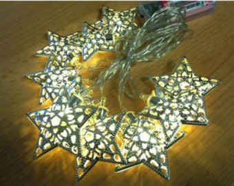 2M LED Star warm white light, party string outdoor garden garland wedding lights