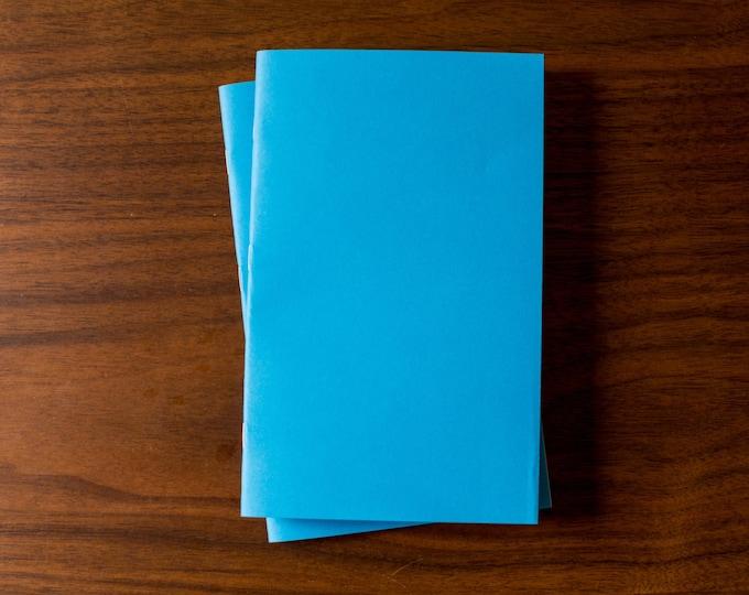 Blue Notebooks - 5 Pack Journal, Planner, Journal Insert, Planner Insert Mini Diaries, Jotters, Blank Books, Paper Notebook, bulk