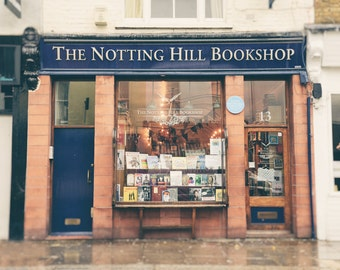 London Photography, Notting Hill Bookshop, Notting Hill Movie, London Print, London Wall Art, Travel Photo, London Decor, Movie Lover Gift