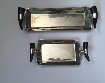 Argentinian Silver and Bone Tray