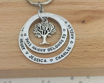 personalised keyring, personalized woman, gifts for mum, personalised mothers day gift, wives, family tree, mum gifts, granny gift, nana,