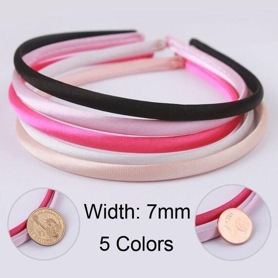 Wholesale Satin Headbands Plastic Head Bands Fashion Tiara 7mm
