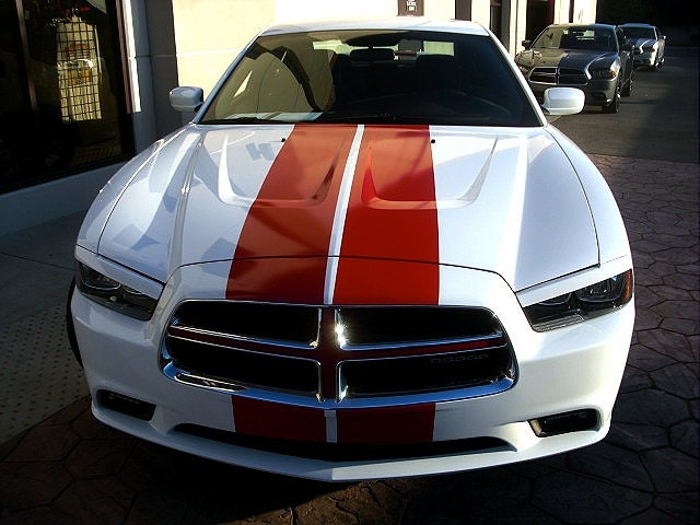 2009 Up Dodge Charger 10 Plain Rally Stripe Stripes