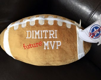Personalized Customized Plush Football Pillow FUTURE MVP or NAME