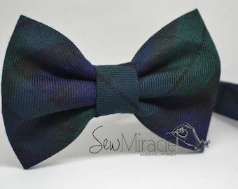 Green Tartan Bow tie, Baby bow tie, Child bow tie, Men's bow tie, Green Bow tie, Gift for him, Men Accessories, Necktie, Bowtie