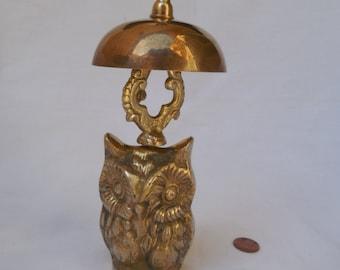 Brass Owl Counter or Desk Bell