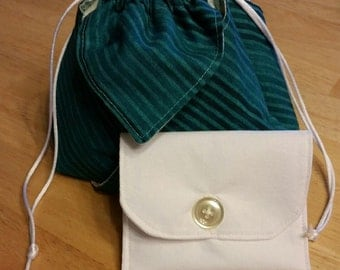 Renaissance Bag (Teal & Green) with Card Case