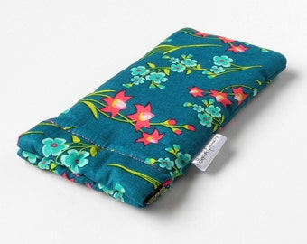 Squeeze Top Glasses Case, Sunglasses Pouch, Flex Frame Case, Eyeglasses case, Summer Fun, Purse Accessory, Pretty Floral, Gift for Her