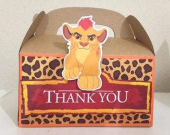 Lion Guard Treat Boxes, Kion Lion Guard Party, Kion, Bunga, Fuli, Beshte and Ono Birthday Party Favors