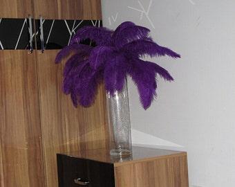 100pcs Purple ostrich feather plumes,wedding centerpiece ,wedding table  decoration,table eiffel tower centerpiece