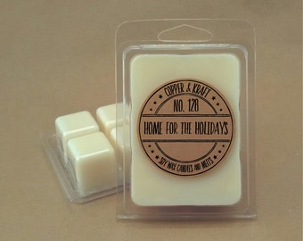 No. 128 HOME For The HOLIDAYS // Soy Wax Melt // Soy Wax Tarts // Highly Scented Wax Melts