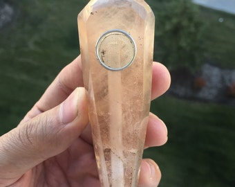 Golden Topaz Crystal Pipe