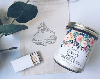 GYPSY SOUL Wood Wick Soy Candle | 16 Ounces