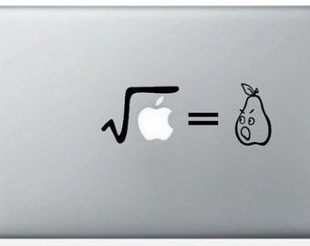 """Sticker """"Square root of an Apple"""" for MacBook"""