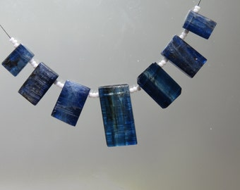 SUPERB Quality ~ 100%Natural  Kyanite Smooth Stick Shape Necklace 11x7~23x11mm Approx 7'Pcs Good Quality On Wholesale Price.{KB-03}