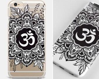 Mandala iPhone 7 Flower iPhone 7 Plus Clear iPhone 6 Mandala Galaxy Case iPhone 6 Plus Om iPhone SE Case Flower iPhone 4-5 Case iPhone 5C