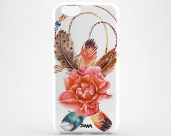 Dreamcatcher Case iPhone 7 Flower iPhone 6 Clear iPhone 7 Plus Case Custom iPhone 4/5 Case Cute iPhone 6 Plus Cover Amulet iPhone SE Case