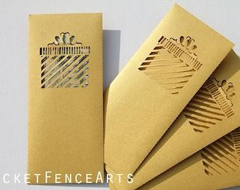 Money Envelopes, Money Holder, Shimmer Metallic Money Envelopes, Gift Envelopes, Gift Giving, Set of 4