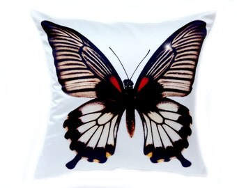 Butterfly Pillow Butterfly Cushion Cover 18x18 Pillow Cover 18x18 Pillow Case Throw Pillows Decorative Pillows Cottage Pillow Coastal Pillow