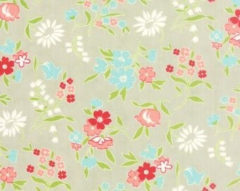 Floral on Grey from Moda's Vintage Picnic Collection