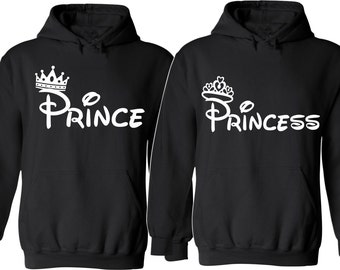 Prince and Princess. Couple Hoodies. For Her and For Him. So Soft Comfy and Cozy. Valentine's Day Gift. The Price is for two hoodies!