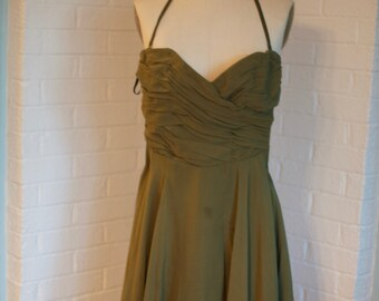 Vintage Olive Green Dress by Betsey Johnson