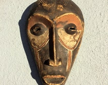 Chokwe Mwana Pwo Mask - Congo African Fertility Carving – Hand Carved with Tattoos and Polychrome Paint – Old Vintage Mask