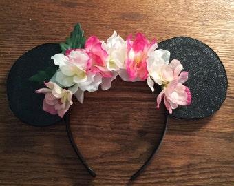 Aloha Flower Disney Mickey & Minnie Mouse Ears