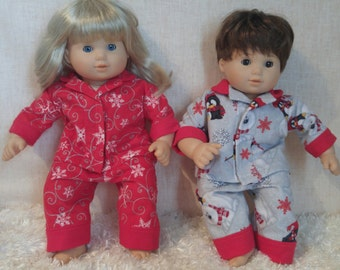 "15"" Bitty Baby Twin type Flannel Pajamas"