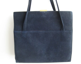 Black Suede Vtg Koret Bag