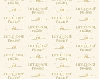 Little House on the Prairie Tan Logo by the yard
