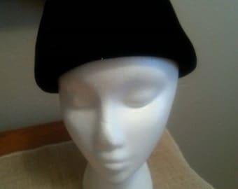 Vintage Black Velvet Hat