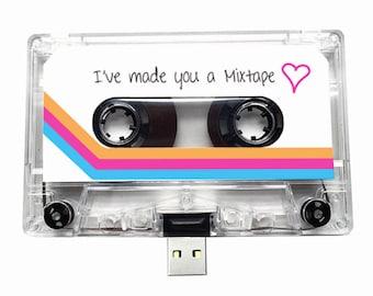 4GB/8GB/16GB USB Mix tape - Retro Personalised Gift - Loved One, Birthday, Wedding Present- Boyfriend, Girlfriend, Bestfriend- Flash Drive