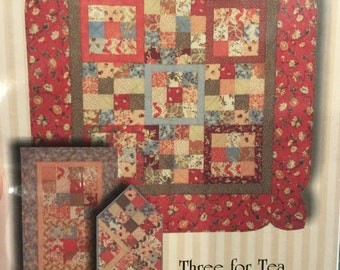 Celine Perkins Perkins Dry Goods THREE FOR TEA quilt pattern