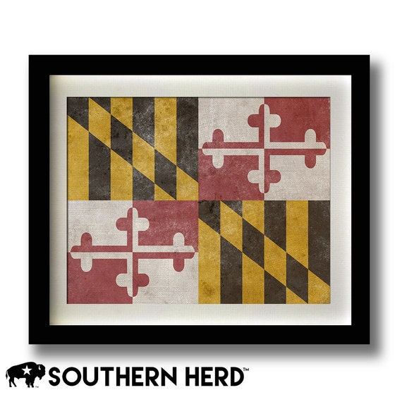 Maryland Flag Print 11x14