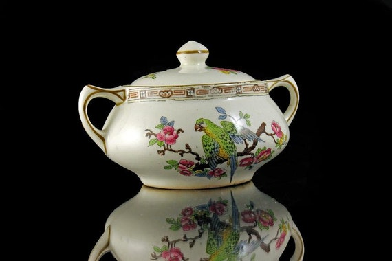 Miniature Sugar Bowl, Crown Ducal Ware, England