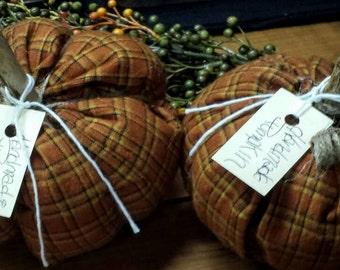 Primitive Fabric Pumpkins