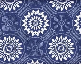 Blue and White Medallion Curtain Valance