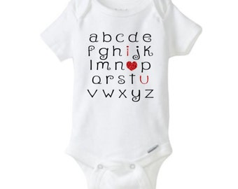 Baby Onesie - I Love You Alphabet