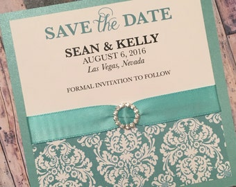 Breakfast at Tiffany's Linen Save The Date