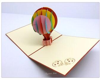 3D Pop Up Hot Air Balloon Card