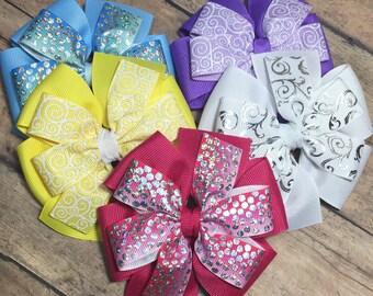 Set of pinwheel hairbows!