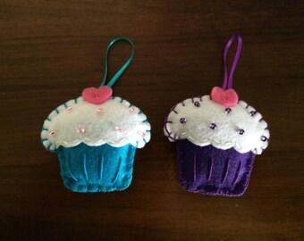Cupcake Felt Ornament