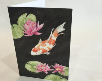 Koi Fish Notecard 6-pack