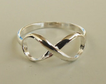 Sterling Silver Ring, Silver Infinity Ring, Silver Ring, Silver Band Ring
